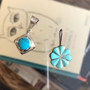 Jewelry - Sterling silver turquoise pendant bundle